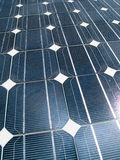 Solar panel. A close-up of a solar panel with slight sun reflection Royalty Free Stock Photography