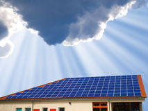 Solar panel. On home roof Stock Photography