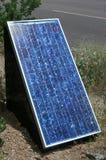 Solar panel. Small solar panel in sunlight stock photo