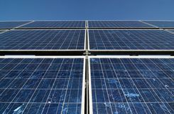 Solar panel. Field of different solar panels as a small power station (sRGB Stock Photos