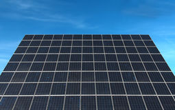 Solar Panel. Large solar panel from a photovoltaic power station Stock Photography