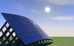 Solar Panel. 3d solar energy panel background Royalty Free Stock Photography