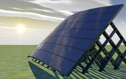 Solar Panel. 3d background of an solar energy power Stock Photos