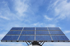 Solar panel. Single solar panel against cloudscape Stock Photos