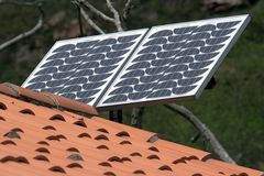 Solar Panel. Small solar panel Royalty Free Stock Images