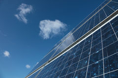 Solar panel. Detail of a solar panel against blue sky (sRGB Royalty Free Stock Image