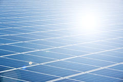 Solar panel. A photography of a blue solar panel Royalty Free Stock Photo