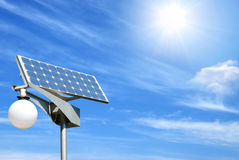 Solar panel. On sky background Royalty Free Stock Images