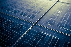 Solar panel abstarct background Royalty Free Stock Photography