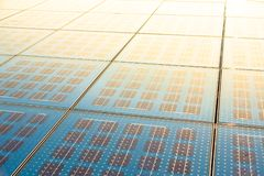 Solar panel abstarct background Royalty Free Stock Images