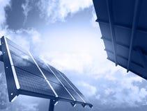 Solar Panel Against Blue Sky Stock Photography