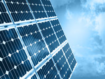 Solar Panel Against Blue Sky Stock Images