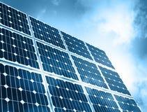 Solar Panel Against Blue Sky vector illustration