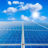 Solar panel against Stock Images
