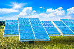 Solar panel against Royalty Free Stock Images