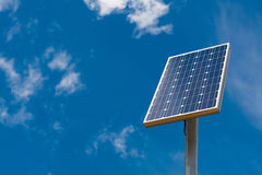 Solar panel against a blue sky royalty free stock images