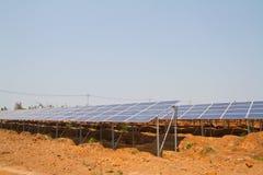 Solar Panel against blue sky Stock Photo