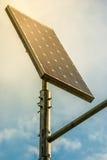 Solar panel against a blue sky Stock Photo