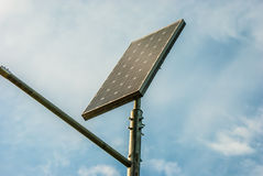 Solar panel against a blue sky Royalty Free Stock Photo
