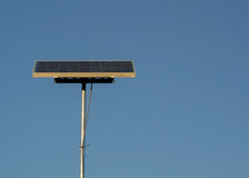 Solar panel against blue sky Royalty Free Stock Images