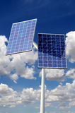 Solar panel against blue sky Royalty Free Stock Photography