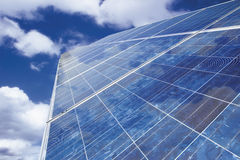 Solar panel against cloudy sky Royalty Free Stock Photography