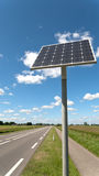 Solar panel along a road Stock Photos