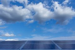 Solar panel, alternative electricity source - concept of sustainable resources, And this is a new system that can generate. Electricity more than the original royalty free stock photo