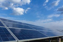 Solar panel, alternative electricity source - concept of sustainable resources, And this is a new system that can generate. Electricity more than the original stock photo