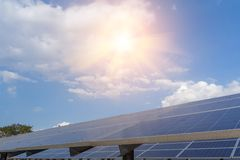 Solar panel, alternative electricity source - concept of sustainable resources, And this is a new system that can generate. Electricity more than the original stock photography