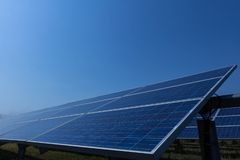 Solar panel, alternative electricity source - concept of sustainable resources, And this is a new system that can generate. Electricity more than the original stock photos
