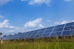 Solar panel, alternative electricity source - concept of sustainable resources, And this is a new system that can generate. Electricity more than the original royalty free stock image
