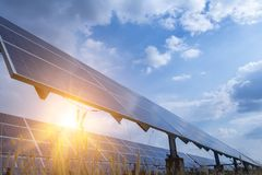 Solar panel, alternative electricity source - concept of sustainable resources, And this is a new system that can generate. Electricity more than the original stock images