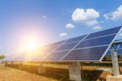 Solar panel, alternative electricity source - concept of sustainable resources, And this is a new system that can generate. Electricity more than the original royalty free stock images