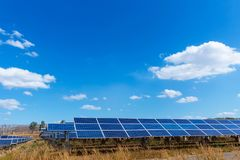 Solar panel, alternative electricity source, concept of sustainable resources, And this is a new system that can generate. Electricity more than the original stock photos