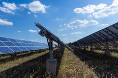 Solar panel, alternative electricity source, concept of sustainable resources, And this is a new system that can generate. Electricity more than the original royalty free stock photos