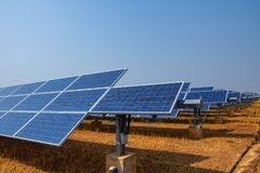 Solar panel, alternative electricity source, concept of sustainable resources, And this is a new system that can generate. Electricity more than the original stock photography