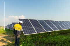 Solar panel, alternative electricity source, concept of sustainable resources, And this is a new system that can generate. Electricity more than the original royalty free stock images