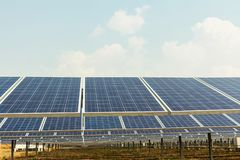 Solar panel, alternative electricity source, concept of sustainable resources, And this is a new system that can generate. Electricity more than the original stock images