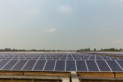 Solar panel, alternative electricity source, concept of sustainable resources, And this is a new system that can generate. Electricity more than the original royalty free stock photo