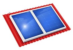 Solar panel for alternative energy. Ecological system. Stock Image