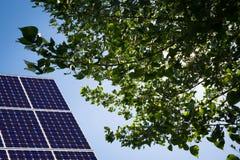 Solar Panel And Blue Sky Stock Photo