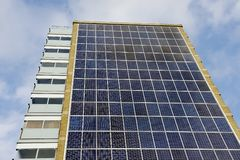 Solar Panel Apartment Building Stock Photos