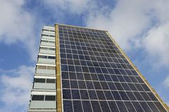 Solar Panel Apartment Building Stock Photography