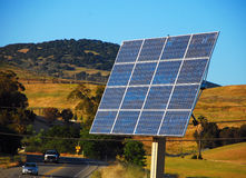 Solar Panel Array. In Livermore, California Stock Photography