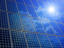 Solar Panel Array Stock Photography