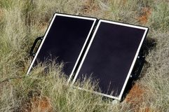 Solar panel in the Australian bush Stock Image