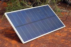 Solar panel in the Australian bush Stock Photo