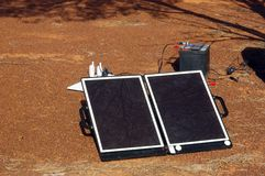 Solar panel in the Australian bush Stock Photos