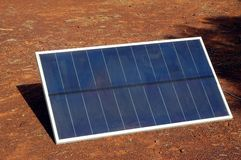 Solar panel in the Australian bush Royalty Free Stock Photo